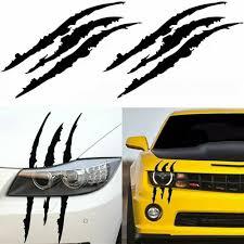 Fashion Universal Car Headlight Claw Scar Scratch Monster Stripe Decals Sticker Creative Funny Automobiles Accessories Stickers Car Stickers Aliexpress