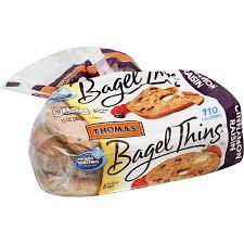 thomas bagels thins pre sliced