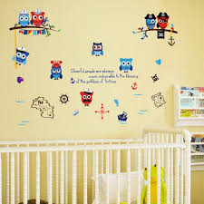 Diy Pirate Wall Decals Pvc Cartoon Owl Wall Art Stickers For Kids Room And Nursery Decoration Eco Friendly Wall Mural Decals Cheap Wall Mural Sticker From Jy9146 3 72 Dhgate Com