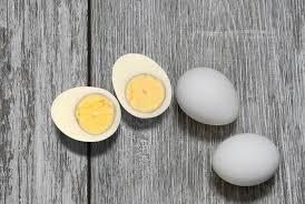 yolk of an overcooked hard boiled egg