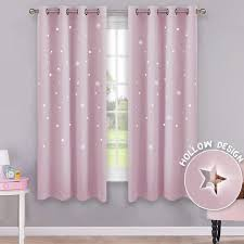 Hollow Stars Blackout Curtains For Kids Bedroom Living Room Three Layers Fabrics Window Curtains Home Decor Stars Tulle Curtains Aliexpress