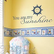 You Are My Sunshine Beautiful Wall Decals For Kids Room Home Decor