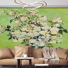 Amazon Com Albert Lindsay Backdrop Wall Mural Decal Iris Flower And Rose Self Adhesive Large Wallpaper 96 X76 245x193 Cm For Office Kids Bedroom Nursery Family Decor Posters Prints