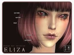 eliza broken doll makeup collection by