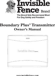 3001186 Boundary Plus Transmitter User Manual Radio Systems
