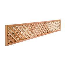 16 1 2in X 8ft Redwood Privacy Lattice Fence Topper At Lowes Com
