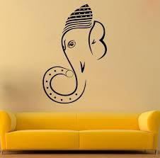 Ganesha Wall Decal Ganesha Vinyl Sticker Hindu Wall Decals Etsy