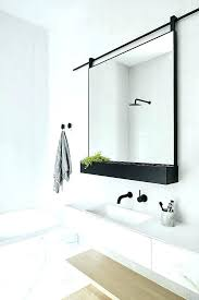 metal framed mirrors bathroom black
