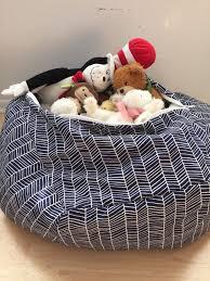 stuffed animal storage pillow patterned