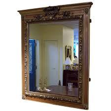 walnut english overmantle mirror