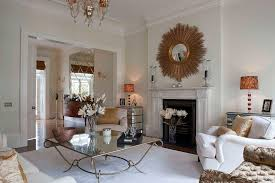 ideas for decorating with a sunburst mirror
