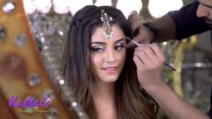 alizeh shah mayoon makeup by kashee s