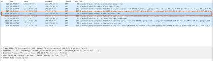 DNS traffic wireshark - Application Layer protocol