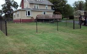 Residential Fencing Black Chain Link Fence Installation In New Brighton Pa Black Chain Link Fence Completed