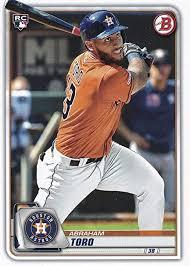 Amazon.com: 2020 Bowman #23 Abraham Toro Houston Astros (RC - Rookie Card)  NM-MT MLB: Sports Collectibles