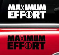 Deadpool Decal Maximum Effort Vinyl Sticker For Sale Online Ebay