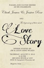 wedding rehearsal dinner literary love theme