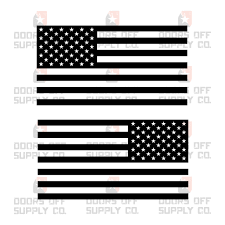 American Flag Quarter Window Decal Set Doors Off Supply Co
