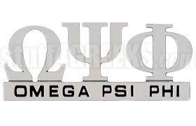 Omega Psi Phi Chrome Greek Letters Car Decal Ns