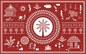 1 warli wall painting art design