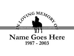 Country Western Memorial Vinyl Window Decals In Loving Memory Of Car Truck Stickers