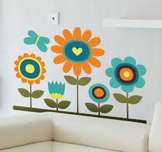 Daisies Butterfly Wall Sticker Tenstickers