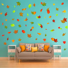 Vwaq Fall Leaves Wall Stickers Leaf Decals Living Room Decorations 7