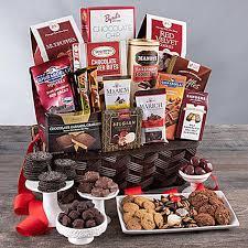 valentine special chocolate gift basket