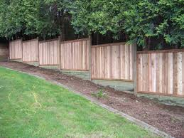 Ideas For Filling In Pre Fabbed Fence Sloping Grade Building A Fence Sloped Yard Backyard Fences