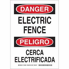 Brady Bilingual Danger Electric Fence Sign 125201 Bradyid Com