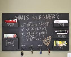 gray wall mail organizer chalkboard for