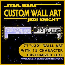 Star Wars Wall Decal Personalized Name Wall Art Decor Ebay