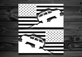 Decals For Jeep Cherokee Pair Flag Decal Car Decal American Etsy American Flag Sticker Mountain Decal Wrangler Car