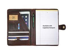 aaron leather portfolio tablet holder