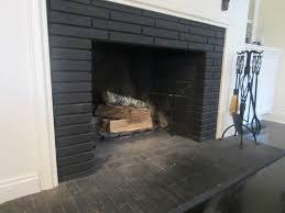 uniqueness of black brick fireplace