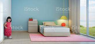 Funny Little Girl In Kids Room Of Modern Beach House Stock Photo Download Image Now Istock