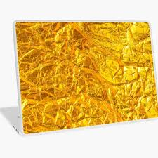 Faux Gold Foil Laptop Skin By Cadinera Redbubble