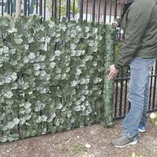 Aleko 3 1 4 Ft X 7 3 4 Ft Faux Ivy Privacy Artificial Garden Fence Screen Scrn94x39indg Hd The Home Depot