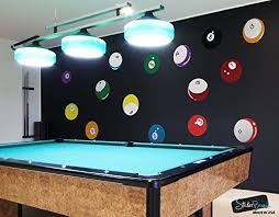 15 Billiard Balls Wall Decal Stickers Printed Graphic Game Room Decor Vinyl Wall Art By Stickerbrand Range From 8in X 8in Billiards Game Room Game Room Decor