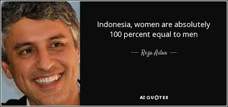 reza aslan quote women are absolutely percent