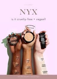 is nyx vegan or free nyx