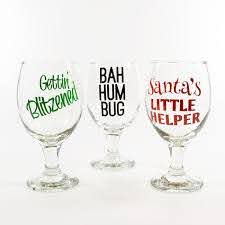High Quality Custom Vinyl Lettering Affordable Durable Christmas Wine Glasses Wine Glass Vinyl Christmas Glasses
