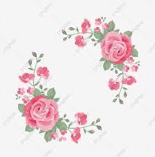 ألوان مائية بينك روز فريم زهور الوردة Wattercolor Png والمتجهات