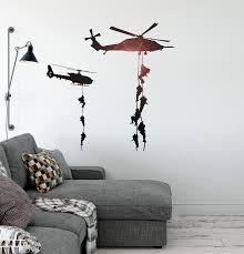 Helicopter Vinyl Decal Marines Military War Soldier Wall Sticker Uniqu Wallstickers4you