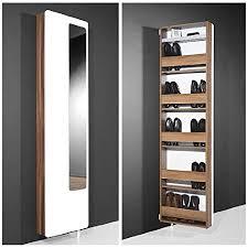 white hi gloss rotating shoe storage