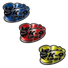Weston Ink K9 Decals With Police Dog Paw