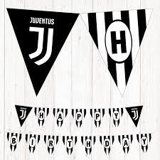 Juventus Happy Birthday Printable Banner Party Banderin Juventus