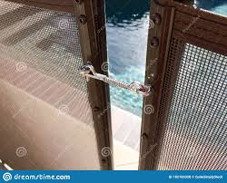 Safety Fence At Swimmimg Pool Stock Photo Image Of Emergency Help 182160328
