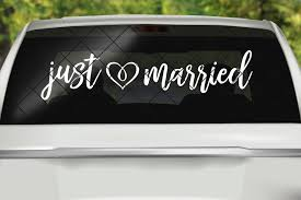 Just Married 2 Horizontal So Fontsy