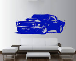 Ford Mustang 1969 Removable Vintage Large Car Wall Decal Sticker Vinilos Art Home Decoration Bedroom Mural Paper Decal Y 172 Car Wall Decal Wall Decals Stickersdecoration Bedroom Aliexpress